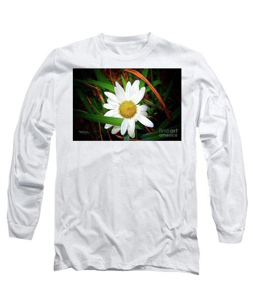 White Daisy Long Sleeve T-Shirt