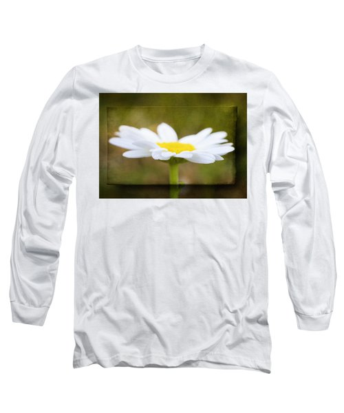 Long Sleeve T-Shirt featuring the photograph White Daisy by Eduard Moldoveanu