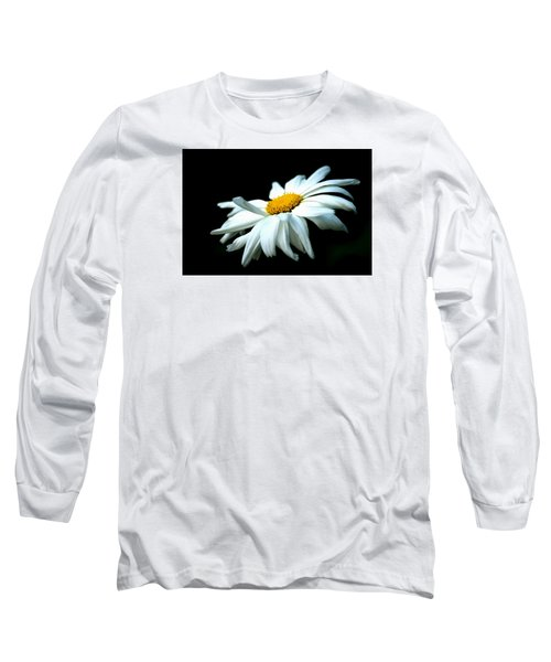 Long Sleeve T-Shirt featuring the photograph White Daisy Flower In The Wind by Alexander Senin