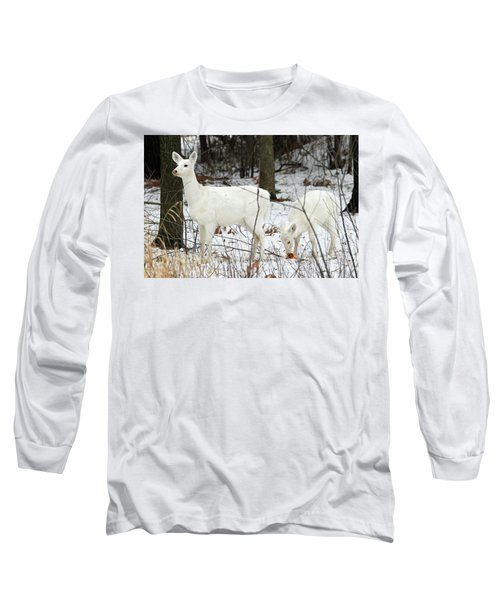 White Deer With Squash 4 Long Sleeve T-Shirt by Brook Burling