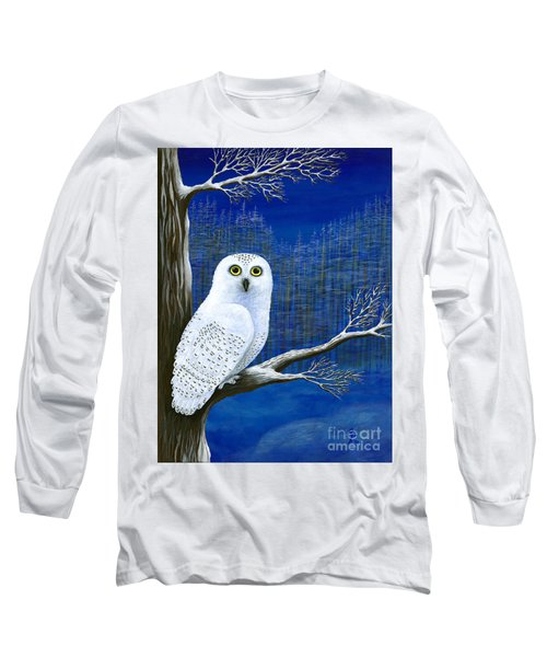 White Delivery Long Sleeve T-Shirt by Rebecca Parker