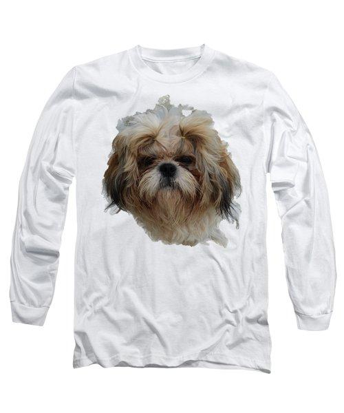 White Dog Head Long Sleeve T-Shirt