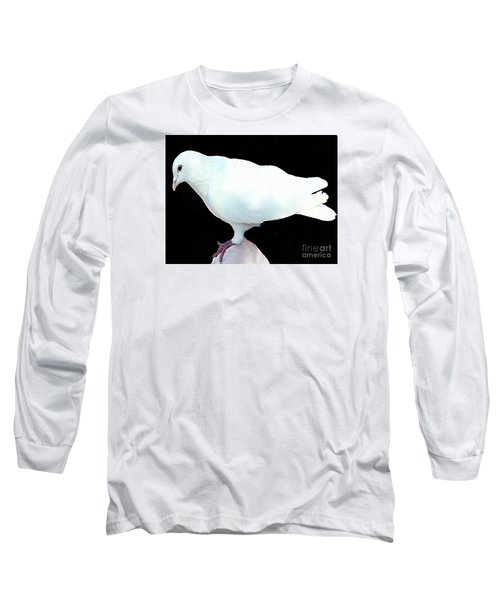 Long Sleeve T-Shirt featuring the photograph White Dove by Merton Allen