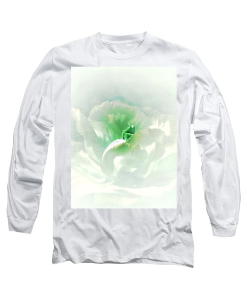 White Flower Long Sleeve T-Shirt