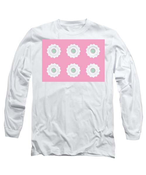 Long Sleeve T-Shirt featuring the digital art White Flowers by Elizabeth Lock