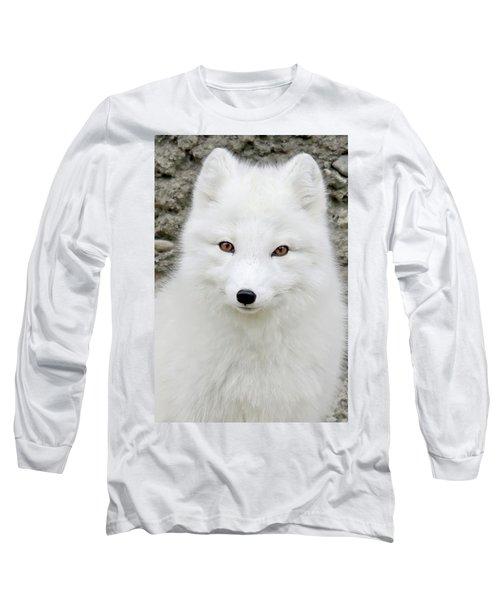 White Fox Long Sleeve T-Shirt by Athena Mckinzie