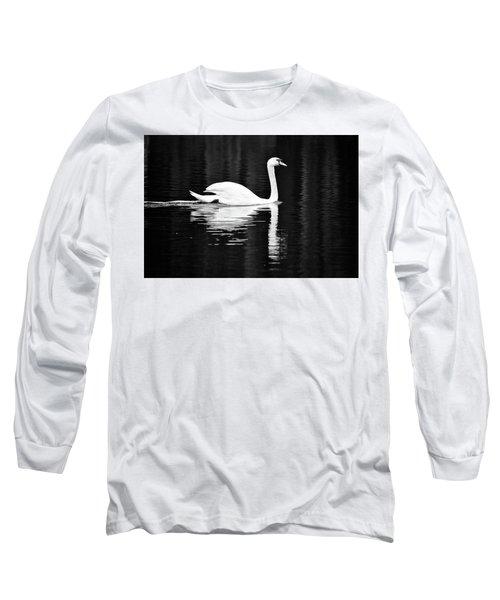 White In Black  Long Sleeve T-Shirt by Teemu Tretjakov