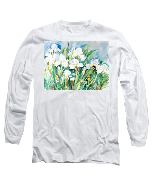 White Irises Long Sleeve T-Shirt
