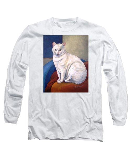 White Kitty Long Sleeve T-Shirt