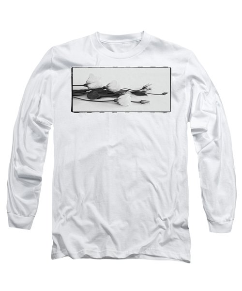 White Lisianthus  Long Sleeve T-Shirt