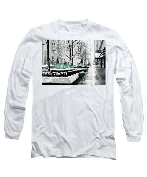 White Mag Mile Christmas Long Sleeve T-Shirt