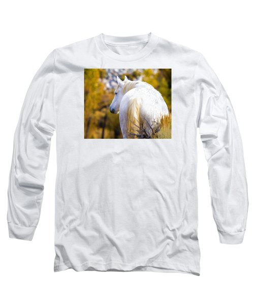 White Mustang Mare Long Sleeve T-Shirt