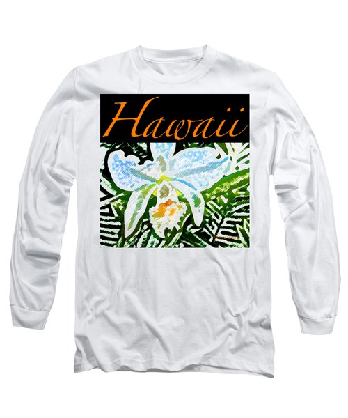 White Orchid T-shirt Long Sleeve T-Shirt by James Temple