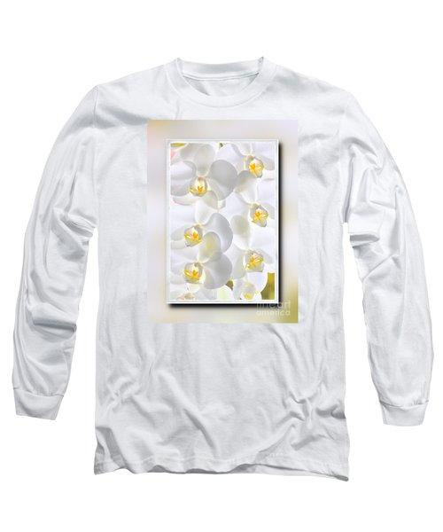 White Orchids Framed Long Sleeve T-Shirt
