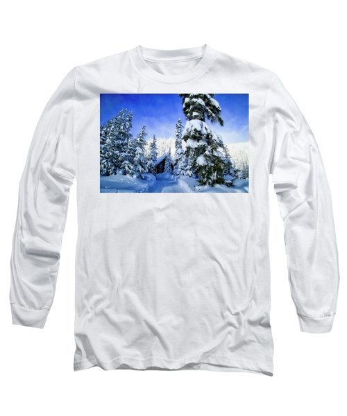 White Pass Chalet Long Sleeve T-Shirt by Lynn Hopwood