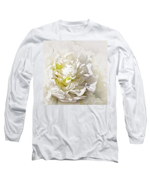 White Peony Long Sleeve T-Shirt