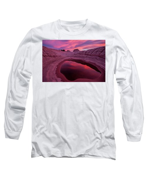 White Pocket Sunset Long Sleeve T-Shirt