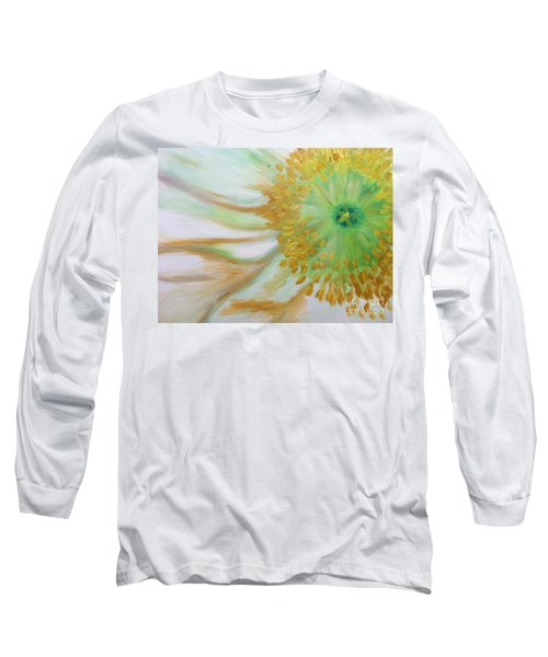 White Poppy Long Sleeve T-Shirt by Sheron Petrie