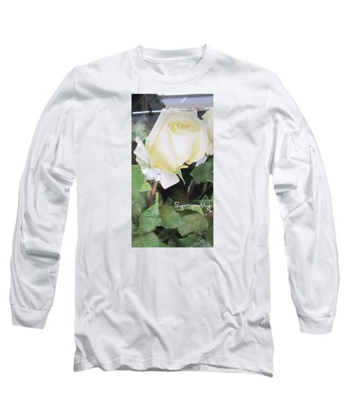White Rose - Sympathy Card Long Sleeve T-Shirt