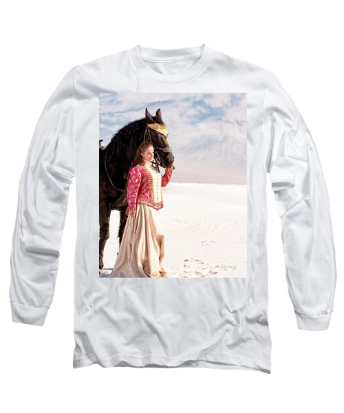 White Sands Horse And Rider #2a Long Sleeve T-Shirt