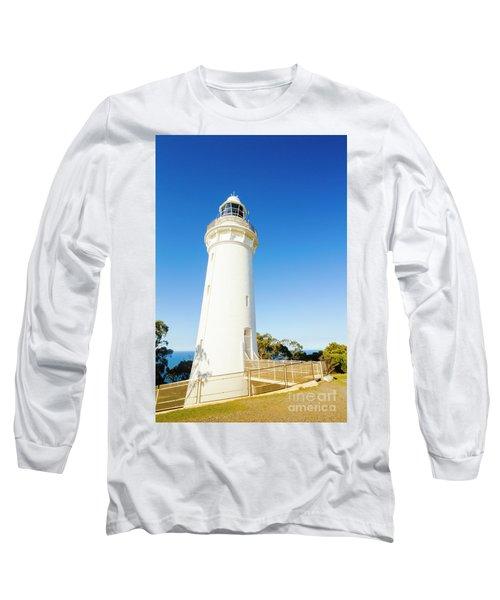 White Seaside Tower Long Sleeve T-Shirt