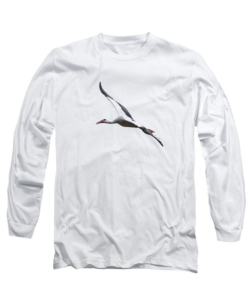 White Stork Transparent Long Sleeve T-Shirt