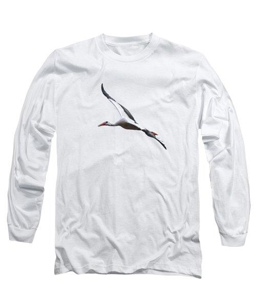 White Stork Transparent Long Sleeve T-Shirt