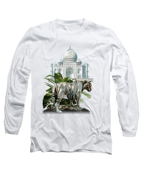 White Tiger And The Taj Mahal Image Of Beauty Long Sleeve T-Shirt