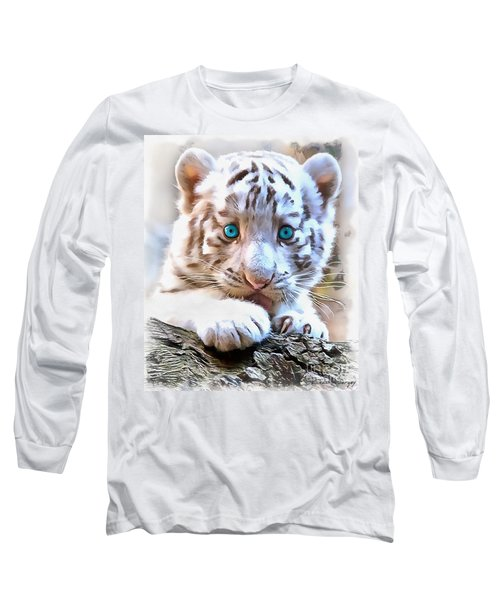 White Tiger Cub Long Sleeve T-Shirt