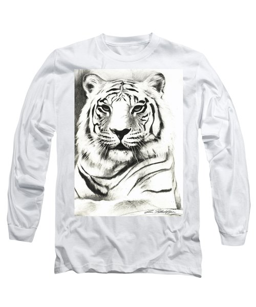 White Tiger Portrait Long Sleeve T-Shirt