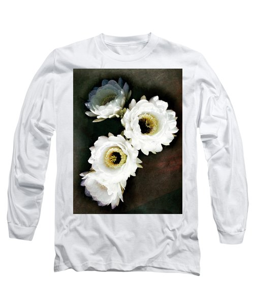White Torch Blooms Long Sleeve T-Shirt