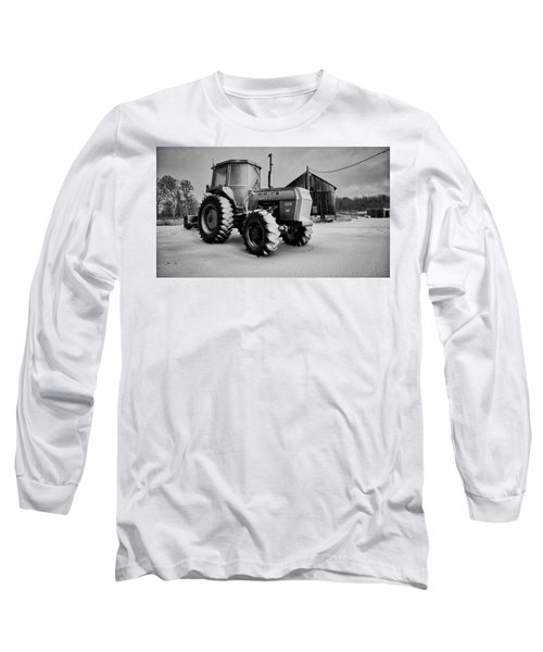 White Tractor Long Sleeve T-Shirt