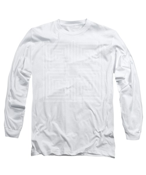 White Transparent Design Long Sleeve T-Shirt