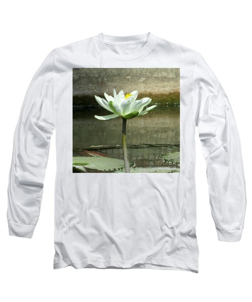 Long Sleeve T-Shirt featuring the photograph White Water Lily 2 by Randall Weidner