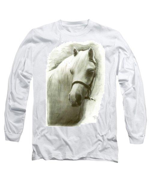 White Welsh Pony Long Sleeve T-Shirt
