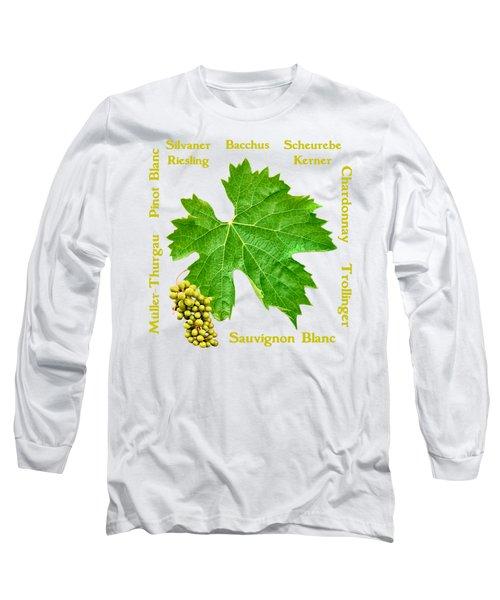 White Wine Lettering Long Sleeve T-Shirt