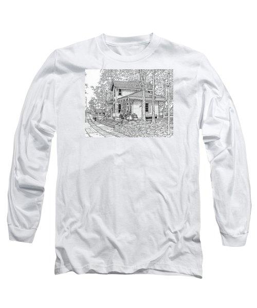 Whitehall Station Bryn Mawr Pennsylvania Long Sleeve T-Shirt by Ira Shander