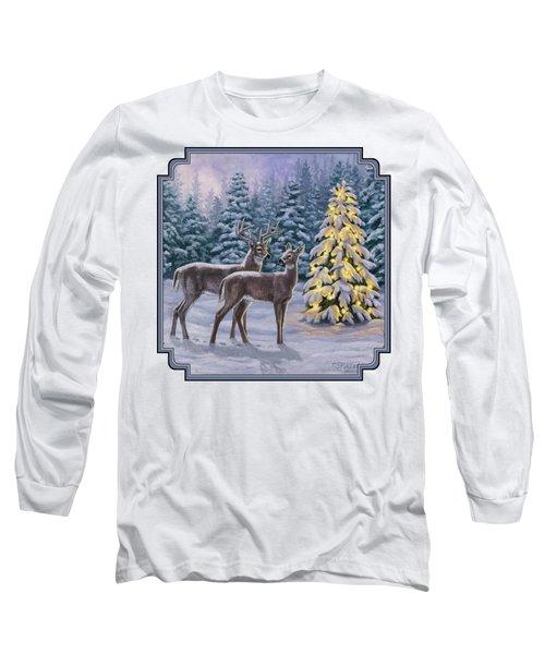 Whitetail Christmas Long Sleeve T-Shirt
