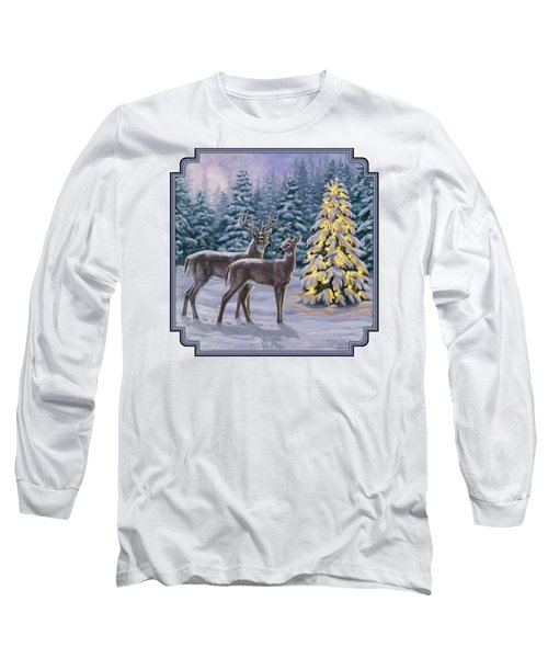 Whitetail Christmas Long Sleeve T-Shirt