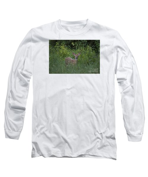 Long Sleeve T-Shirt featuring the photograph Whitetail Fawn 20120711_37a by Tina Hopkins