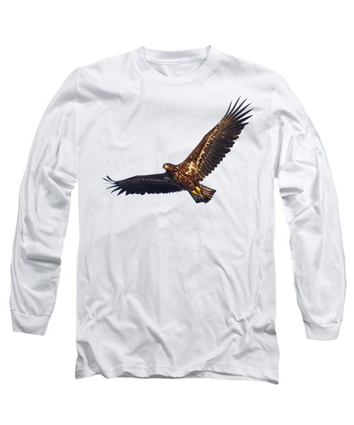 Whitetailed Eagle Transparent Long Sleeve T-Shirt