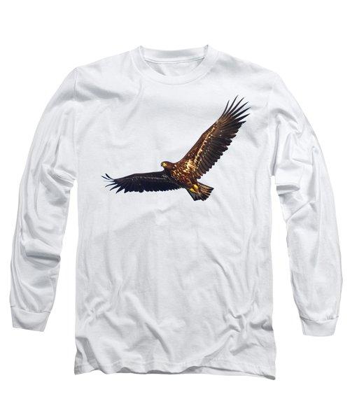 Whitetailed Eagle Transparent Long Sleeve T-Shirt