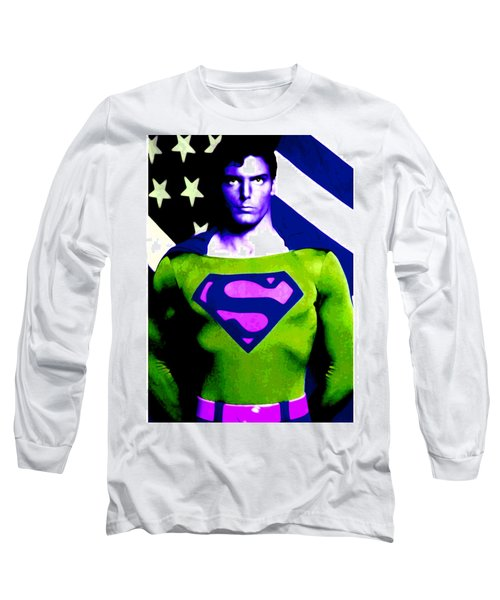 Who Is Superman Long Sleeve T-Shirt by Saad Hasnain