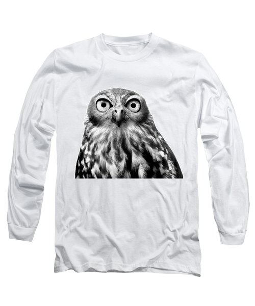 Whoo You Callin A Wise Guy Long Sleeve T-Shirt by Marion Cullen