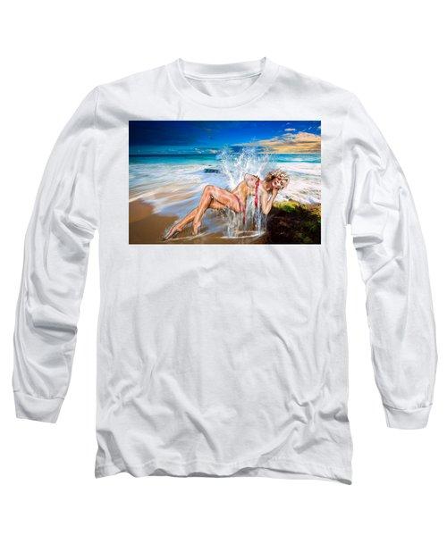 Whoops  ...  Marylin Long Sleeve T-Shirt by Glenn Feron