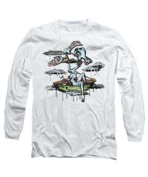 Why Sky Captain Long Sleeve T-Shirt by Kelly Jade King