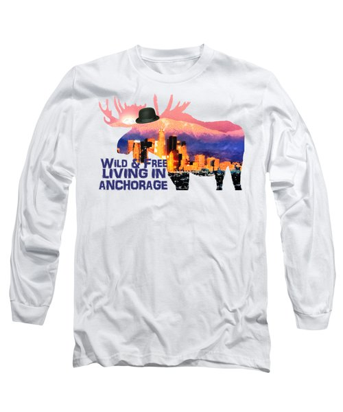 Wild And Free-in Anchorage Long Sleeve T-Shirt by Elaine Ossipov