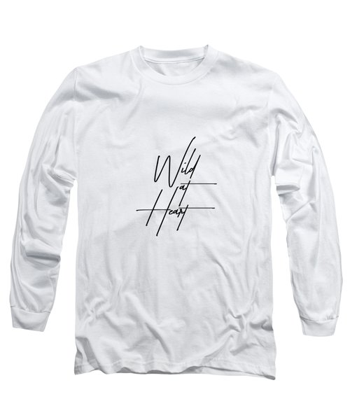 Wild At Heart - Minimalist Print Long Sleeve T-Shirt