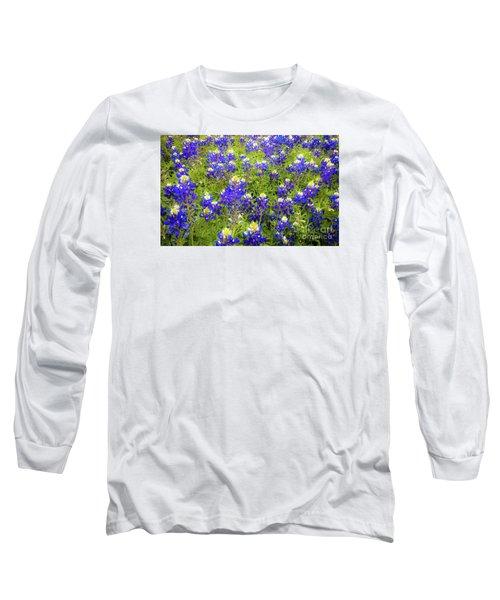 Wild Bluebonnets Blooming Long Sleeve T-Shirt
