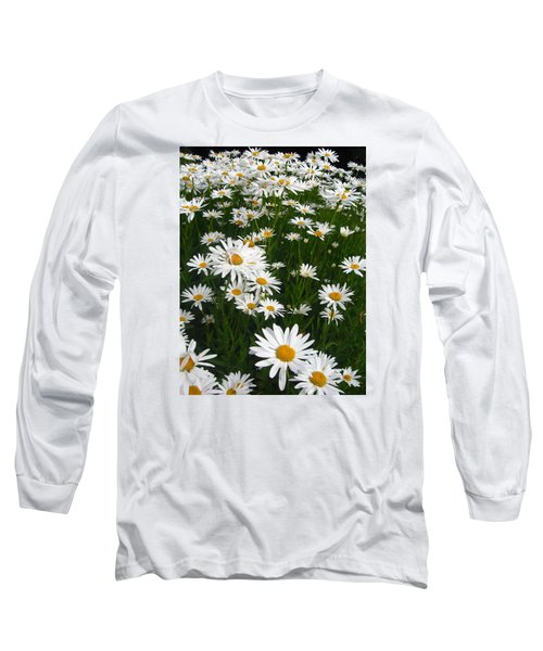 Wild Daisies Long Sleeve T-Shirt by Dorothy Cunningham